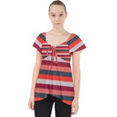 Stripey 13 Lace Front Dolly Top