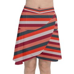Stripey 13 Chiffon Wrap Front Skirt