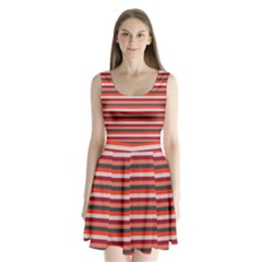 Stripey 13 Split Back Mini Dress