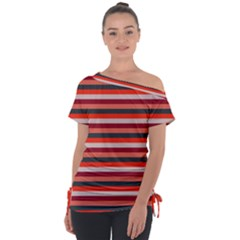 Stripey 13 Tie-Up Tee