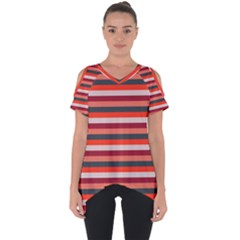 Stripey 13 Cut Out Side Drop Tee