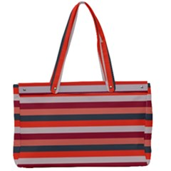 Stripey 13 Canvas Work Bag