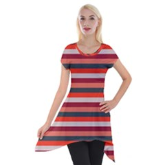 Stripey 13 Short Sleeve Side Drop Tunic