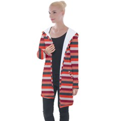 Stripey 13 Longline Hooded Cardigan