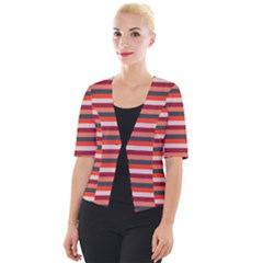 Stripey 13 Cropped Button Cardigan