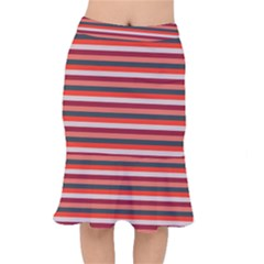 Stripey 13 Short Mermaid Skirt