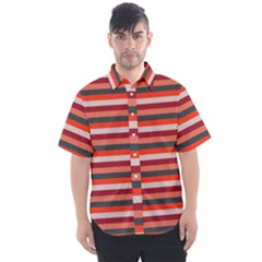 Stripey 13 Men s Short Sleeve Shirt