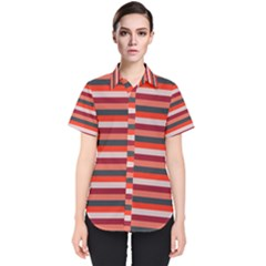Stripey 13 Women s Short Sleeve Shirt