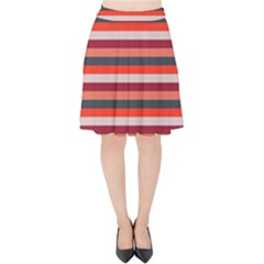Stripey 13 Velvet High Waist Skirt