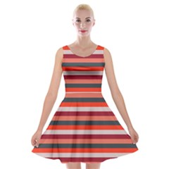 Stripey 13 Velvet Skater Dress