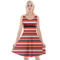 Stripey 13 Reversible Velvet Sleeveless Dress