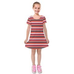 Stripey 13 Kids  Short Sleeve Velvet Dress