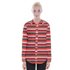 Stripey 13 Womens Long Sleeve Shirt