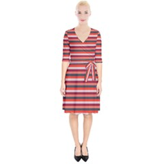 Stripey 13 Wrap Up Cocktail Dress