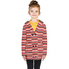 Stripey 13 Kids  Double Breasted Button Coat