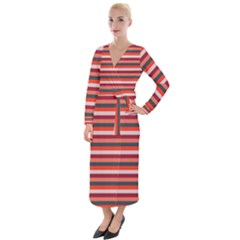 Stripey 13 Velvet Maxi Wrap Dress