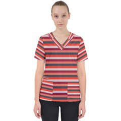 Stripey 13 Women s V-Neck Scrub Top