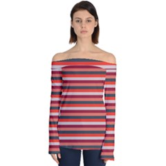 Stripey 13 Off Shoulder Long Sleeve Top