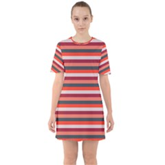 Stripey 13 Sixties Short Sleeve Mini Dress