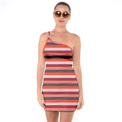Stripey 13 One Soulder Bodycon Dress