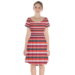 Stripey 13 Short Sleeve Bardot Dress