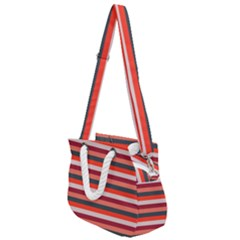 Stripey 13 Rope Handles Shoulder Strap Bag