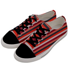 Stripey 13 Men s Low Top Canvas Sneakers