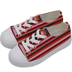 Stripey 13 Kids  Low Top Canvas Sneakers