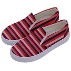 Stripey 13 Kids  Canvas Slip Ons