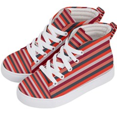 Stripey 13 Kids  Hi-Top Skate Sneakers