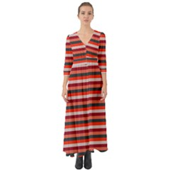 Stripey 13 Button Up Boho Maxi Dress