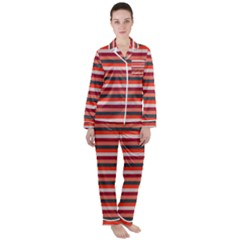 Stripey 13 Satin Long Sleeve Pyjamas Set
