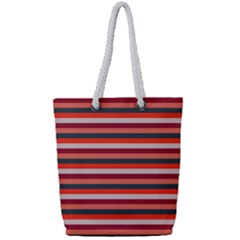 Stripey 13 Full Print Rope Handle Tote (Small)