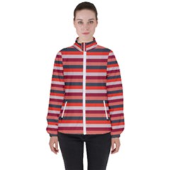 Stripey 13 Women s High Neck Windbreaker