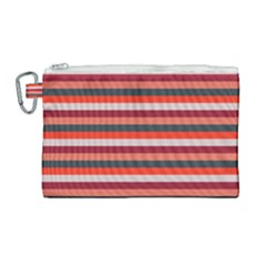 Stripey 13 Canvas Cosmetic Bag (Large)