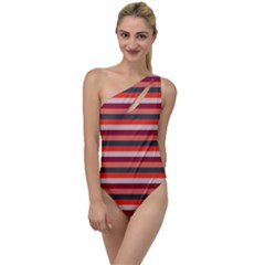 Stripey 13 To One Side Swimsuit