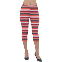 Stripey 13 Lightweight Velour Capri Leggings