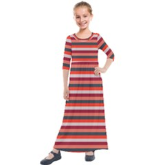 Stripey 13 Kids  Quarter Sleeve Maxi Dress