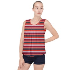 Stripey 13 Bubble Hem Chiffon Tank Top