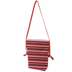 Stripey 13 Folding Shoulder Bag