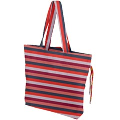 Stripey 13 Drawstring Tote Bag
