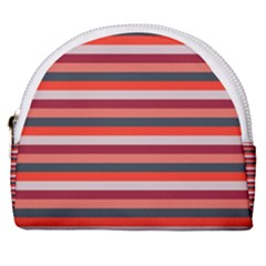 Stripey 13 Horseshoe Style Canvas Pouch