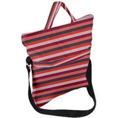 Stripey 13 Fold Over Handle Tote Bag