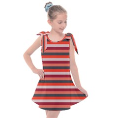 Stripey 13 Kids  Tie Up Tunic Dress