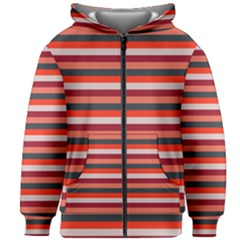 Stripey 13 Kids  Zipper Hoodie Without Drawstring