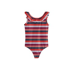 Stripey 13 Kids  Frill Swimsuit