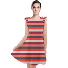 Stripey 13 Tie Up Tunic Dress