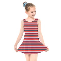 Stripey 13 Kids  Skater Dress Swimsuit