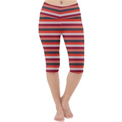 Stripey 13 Lightweight Velour Cropped Yoga Leggings