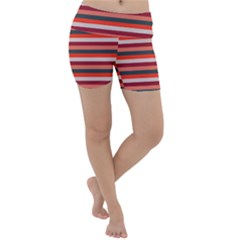 Stripey 13 Lightweight Velour Yoga Shorts